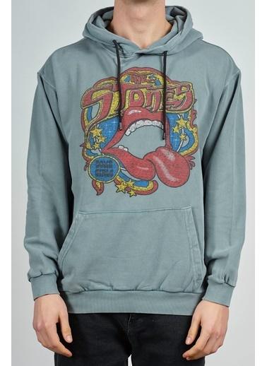 XHAN Antrasit Baskılı Sweatshirt 1Kxe8-44274-36 Antrasit